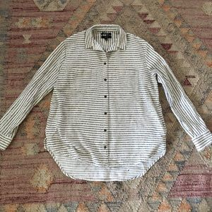 Madewell Striped Flannel Sunday Shirt